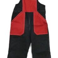 Dětské montérky černo-červené