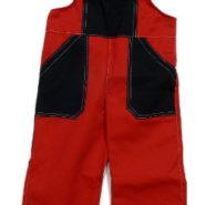 Dětské montérky červeno-černé