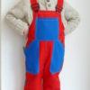 Dětské montérky červeno-modré