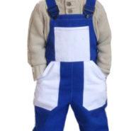 Dětské montérky modro-bílé