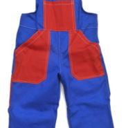 Dětské montérky modro-červené