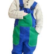Dětské montérky modro-zelené
