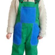 Dětské montérky zeleno-modré