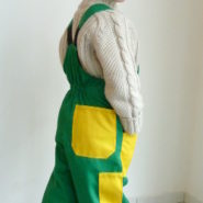 Dětské montérky zeleno-žluté