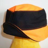 Klobouk černo-oranžový