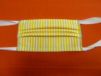 žlutobílá bavlněná rouška