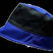 Černo-modrý pracovní klobouk